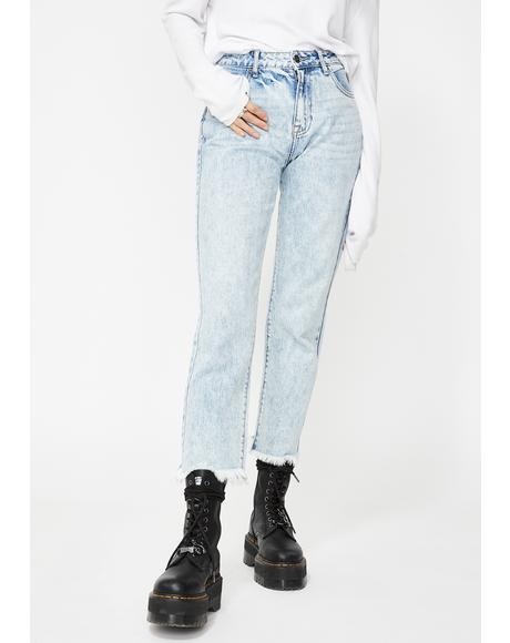 Tracey Clean Classic Straight Leg Jeans