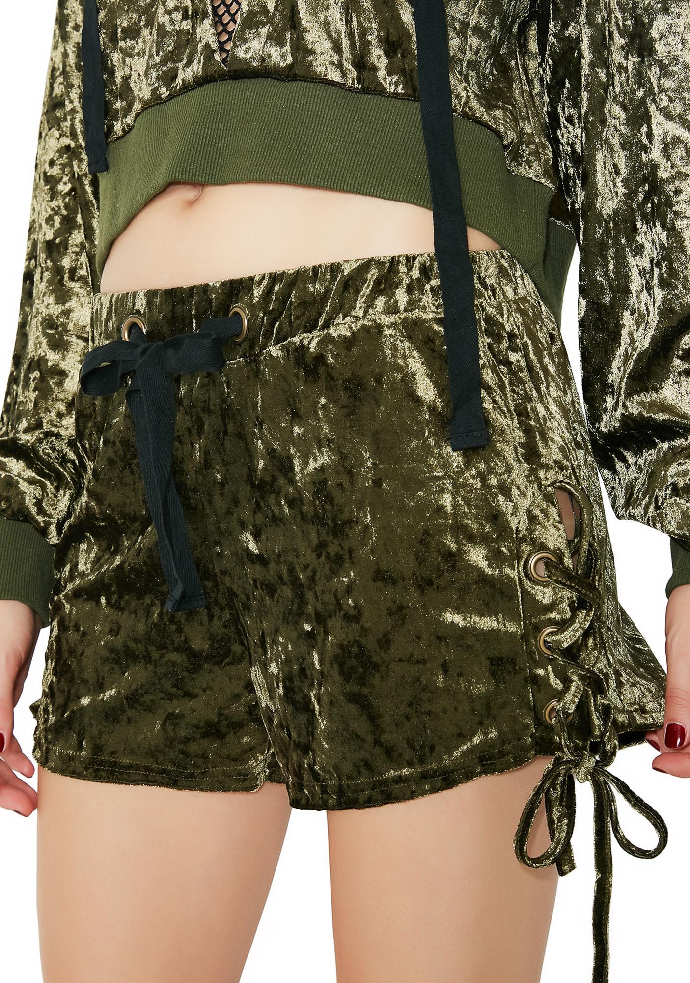 Girl Crush Velvet Shorts