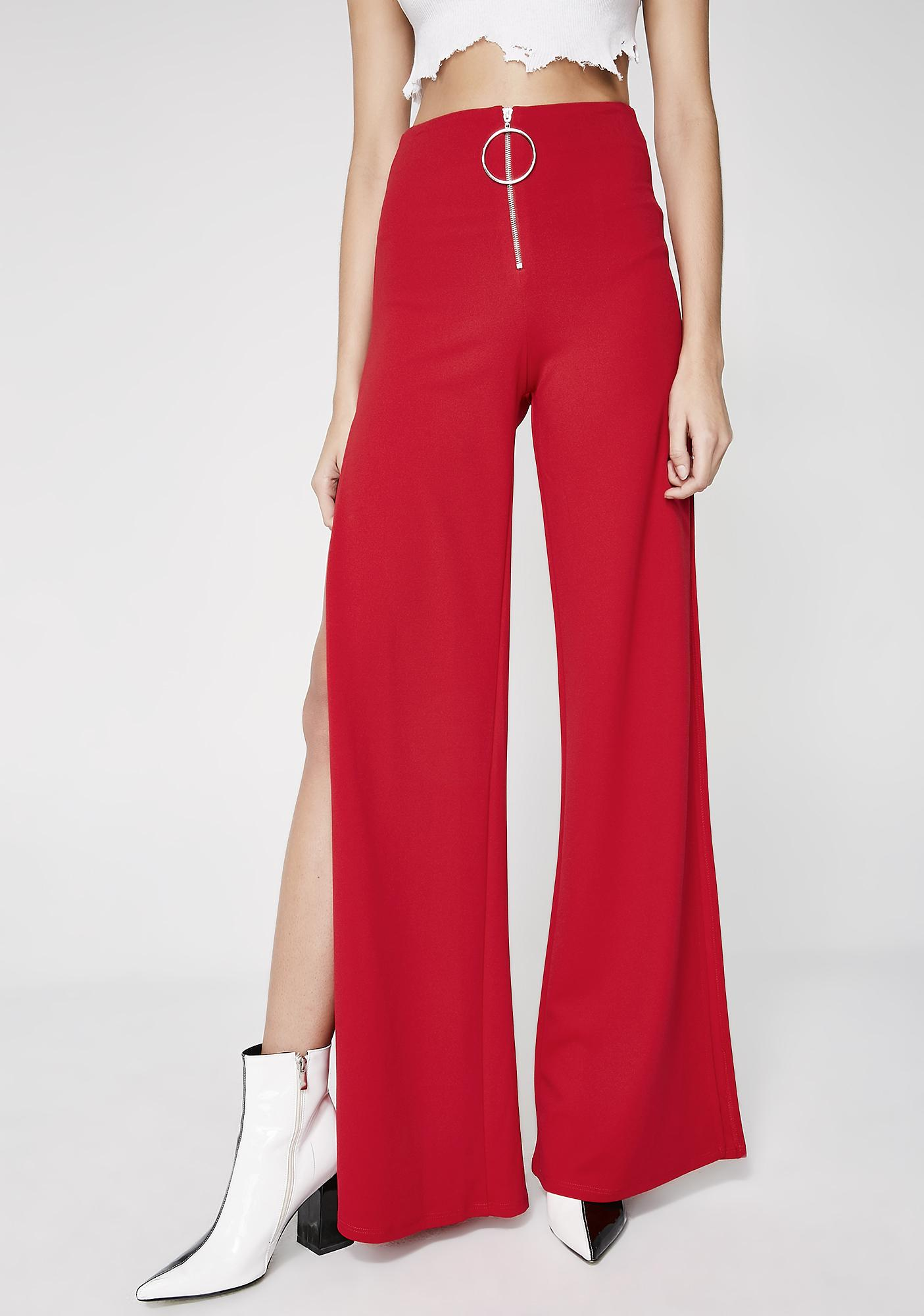 Servin' All Day Slit Trousers