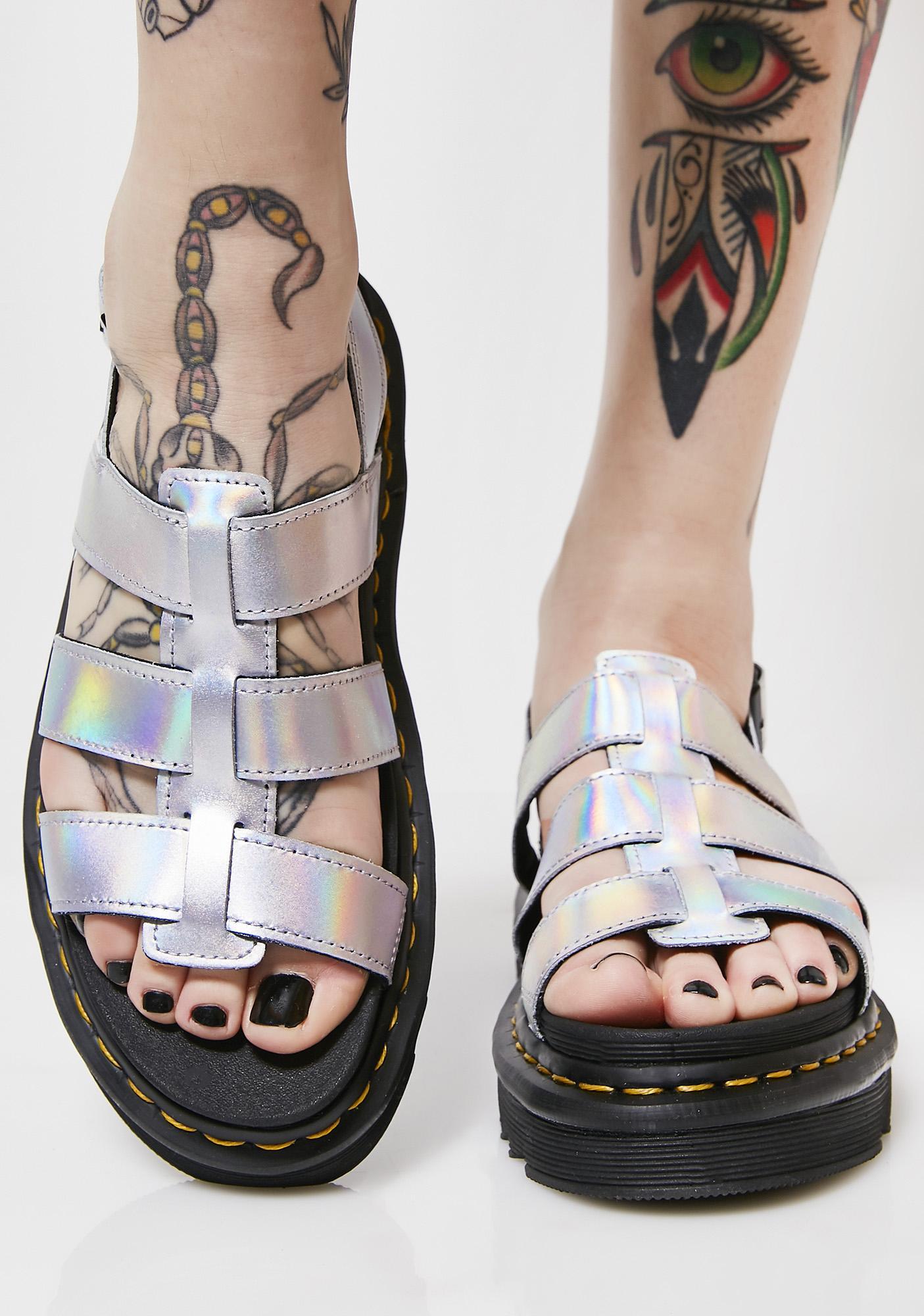 Dr. Martens Yelena Sandal in Metallic