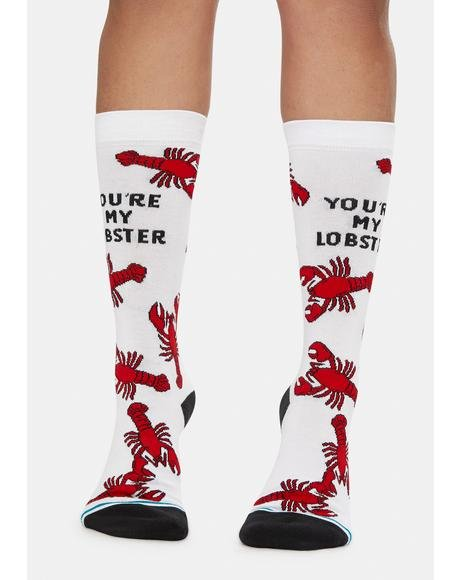 You're My Lobster Crew Socks