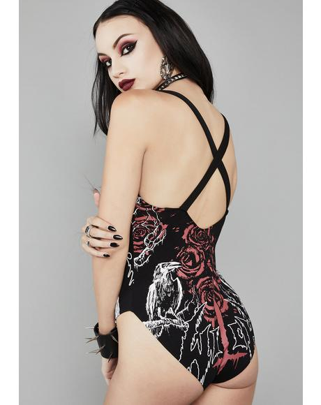 Mark Of The Beast Lace-Up Bodysuit
