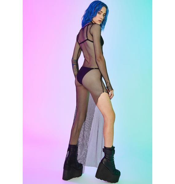 Current Mood Hardcore Herstory Fishnet Dress
