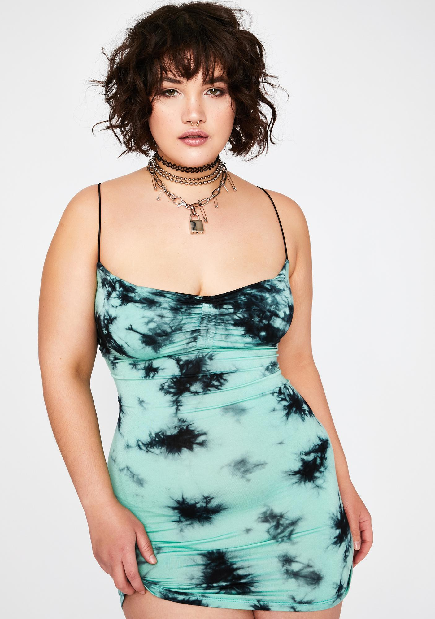Current Mood Your Ride Or Dye Mini Dress