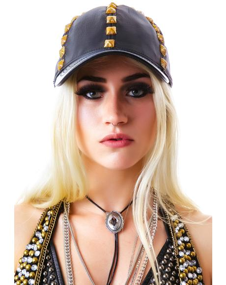Squatter Studded Leather Cap