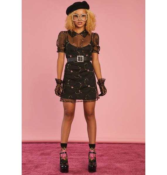 Sugar Thrillz Homemade With Love Organza Mini Dress