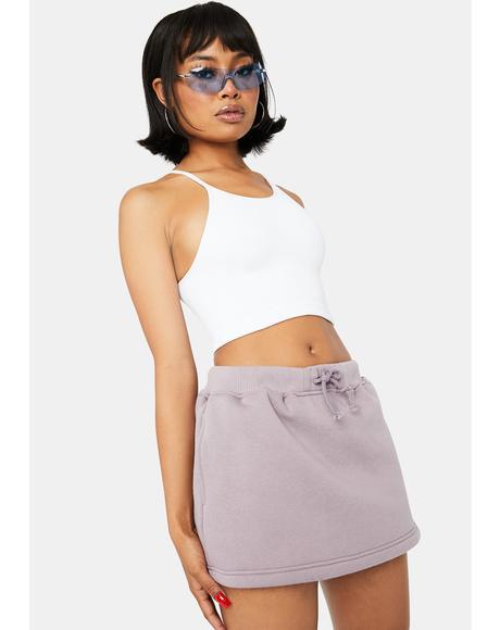 Lilac True Confessions Sweat Skirt