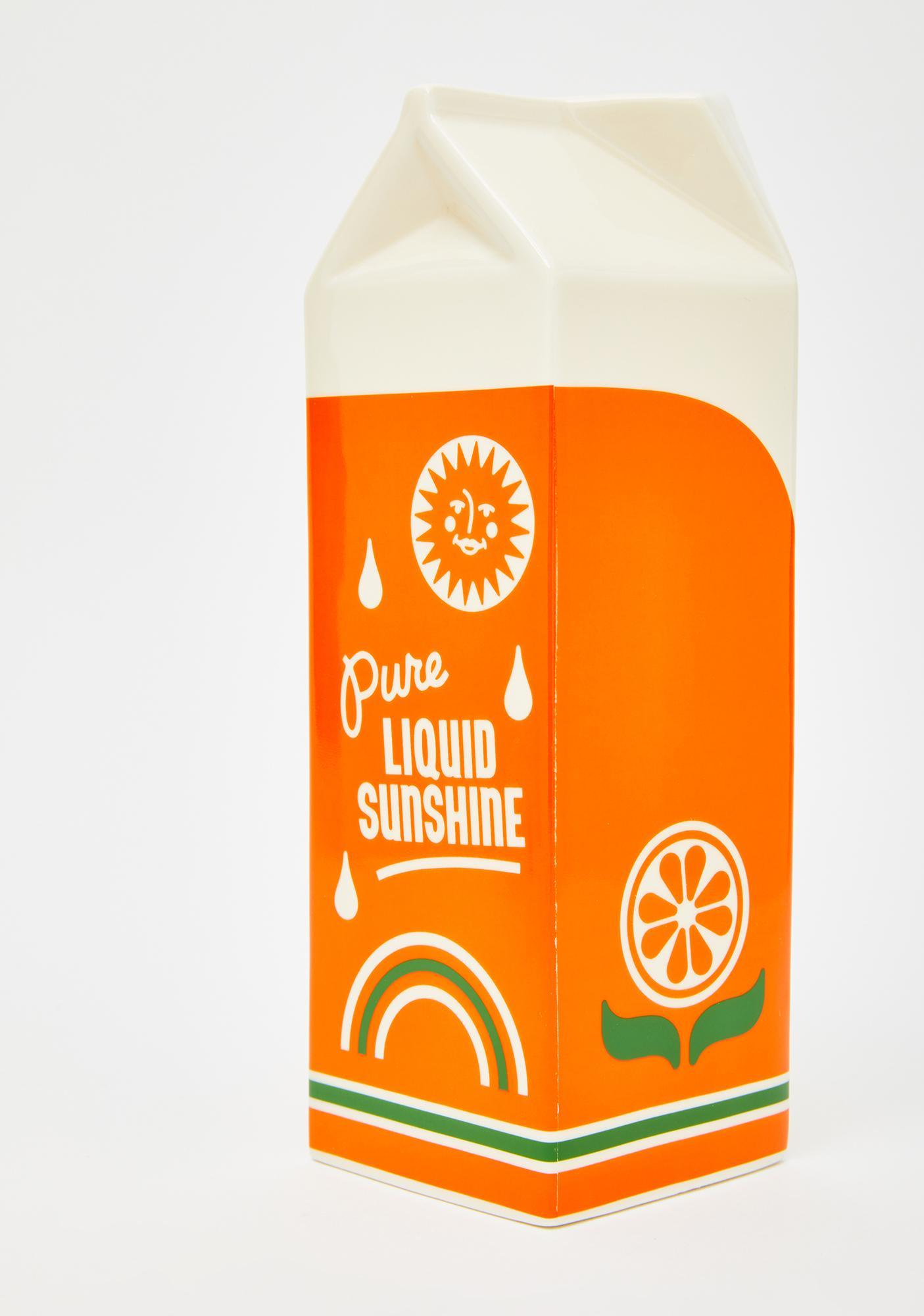 ban.do Rise And Shine Orange Juice Vase