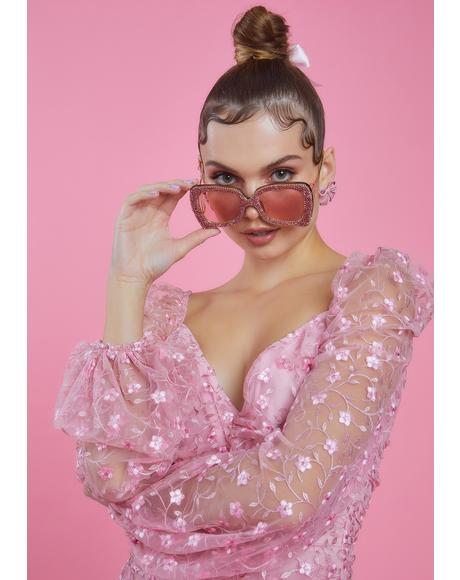Baby Flutter Queen Glitter Sunglasses