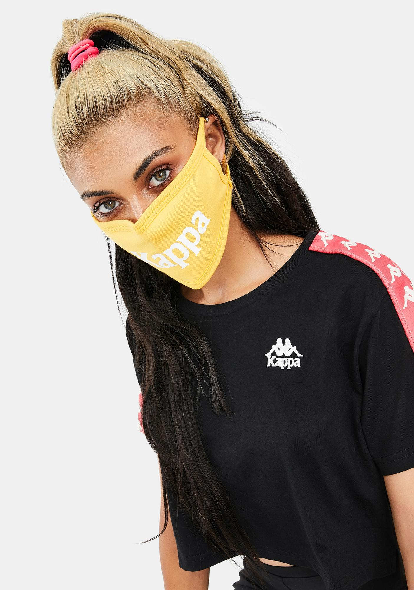 Kappa Yellow Authentic Wilk Face Mask