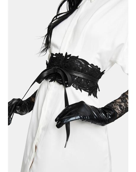 Cursed Love Lace Waist Belt