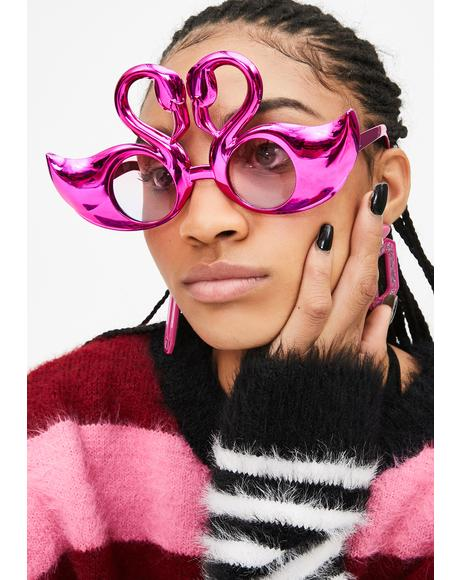 Candy Mingle Time Flamingo Sunglasses