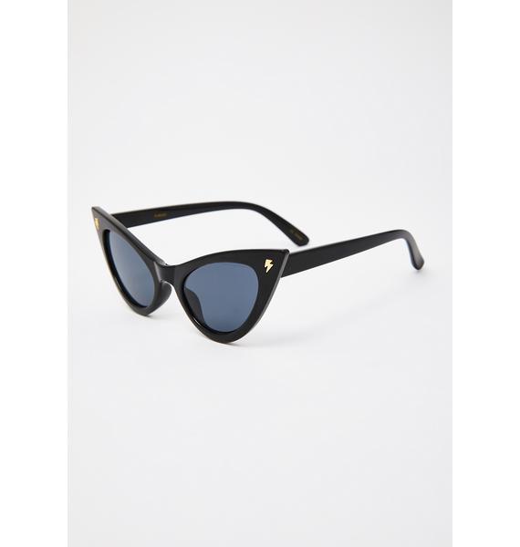 I-SEA Black Fuego Cat Eye Sunglasses