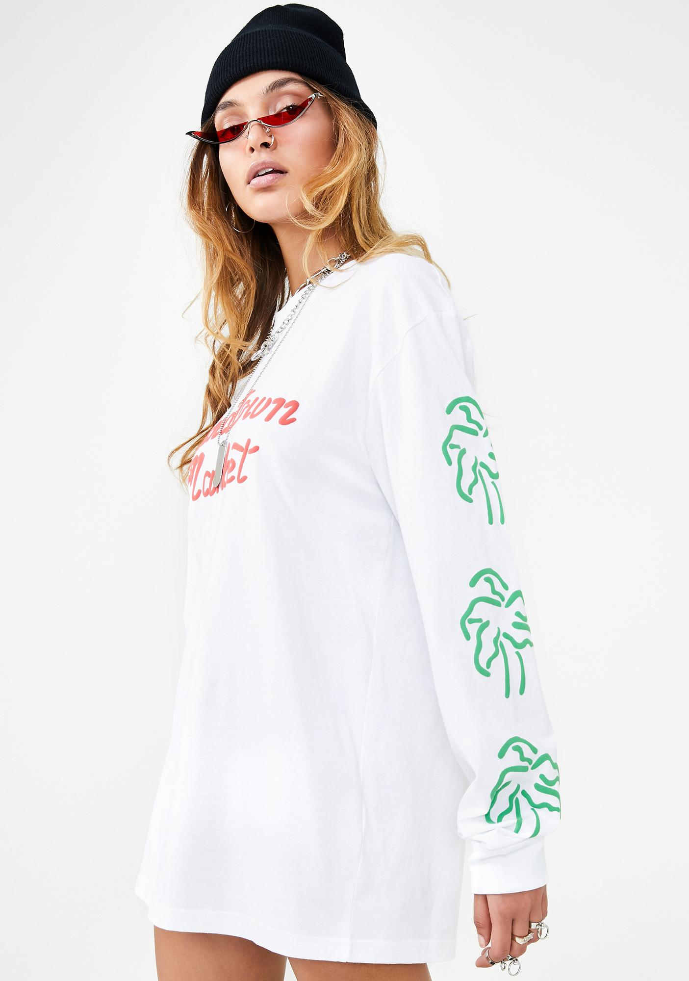 CHINATOWN MARKET Palm Long Sleeve T-Shirt