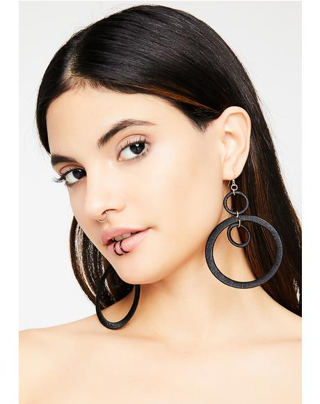 Modern Gurl Hoop Earrings