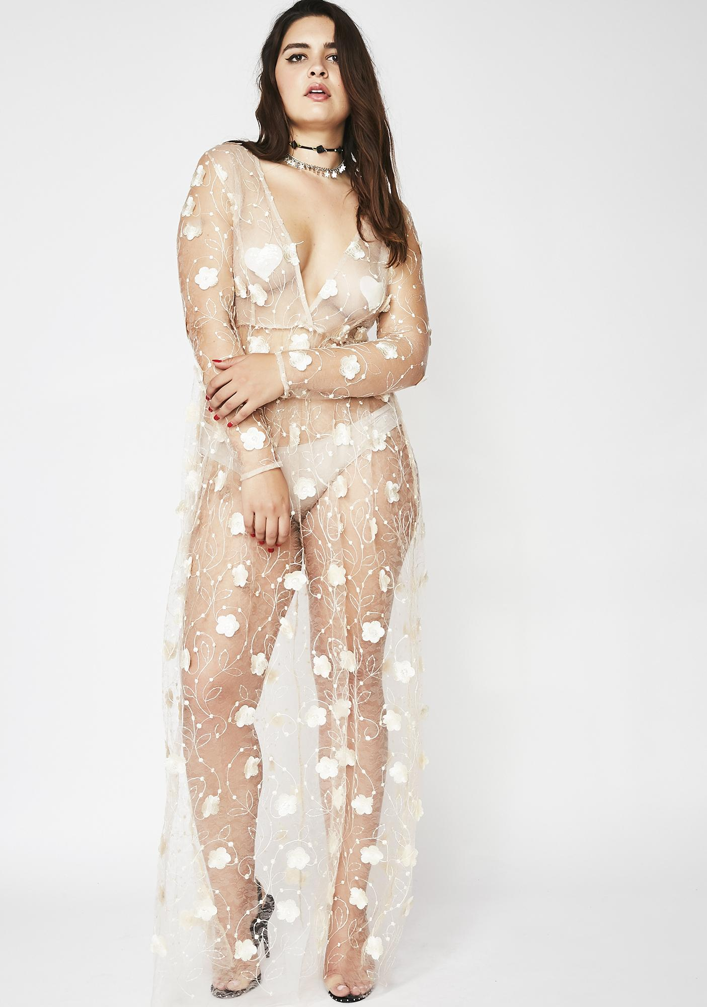 Flower Shower Sheer Dress