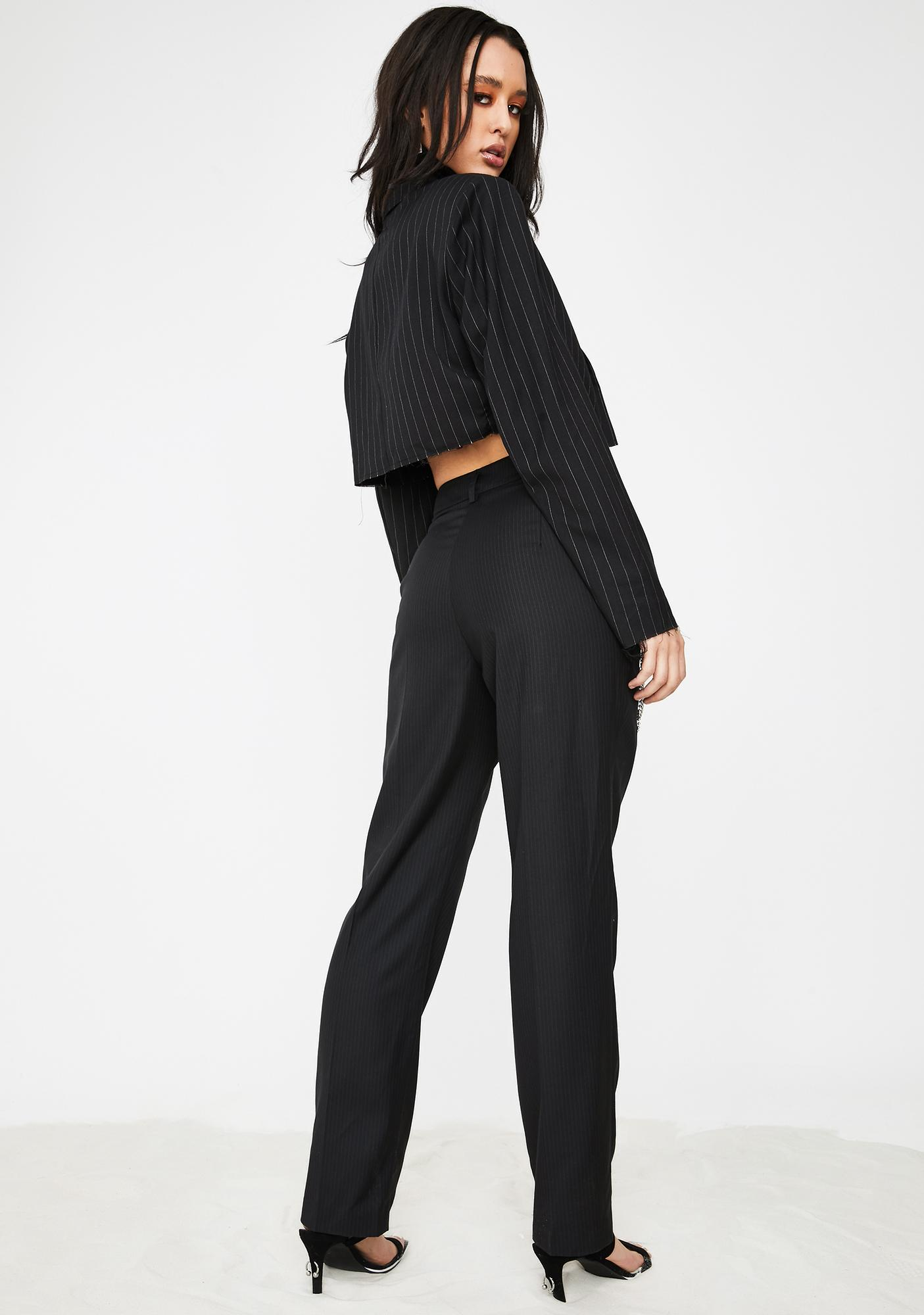 Poster Grl Suited For Werk Pinstripe Trousers