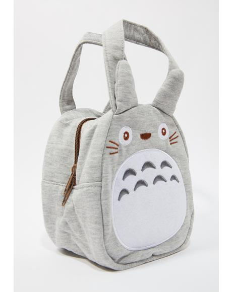 Gray Die Cut Lunch Bag