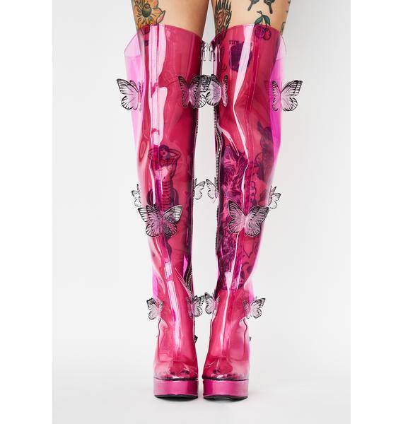 Club Exx Miracle Dream Thigh High Boots