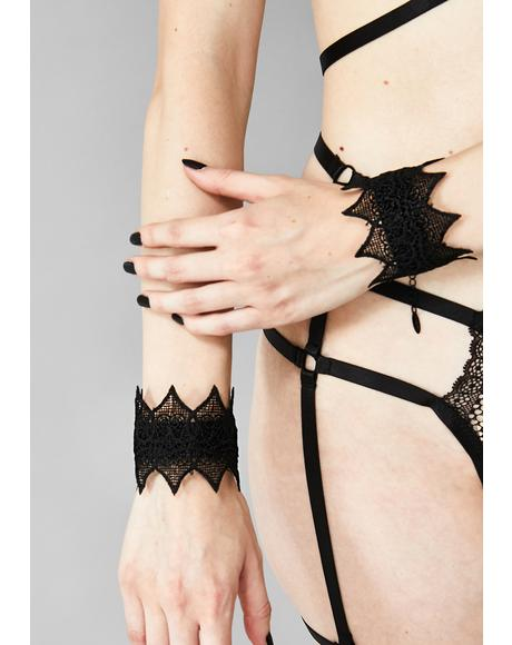 Wicked Ways Lace Cuffs Set