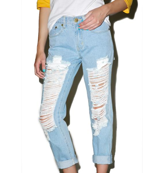 Classic Charley Destroyed Boyfriend Jeans
