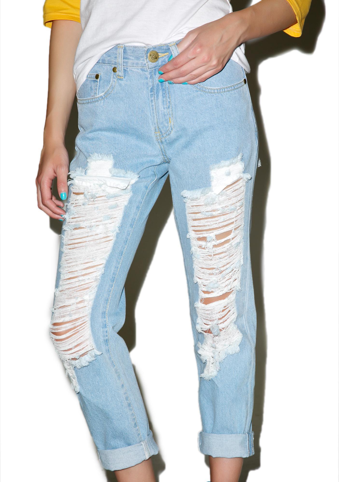 Classic Charley Destroyed Boyfriend Jeans