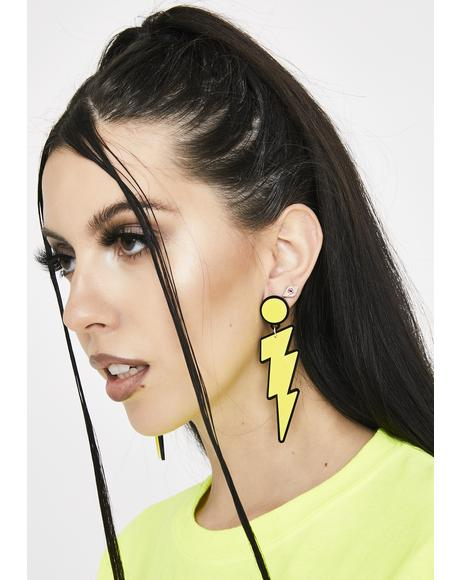 Shock Electric Light Drop Earrings