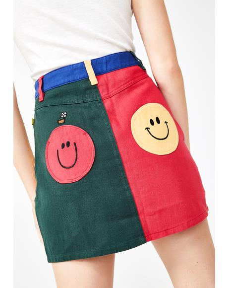 Mr Happy Mr Wrong Mini Skirt