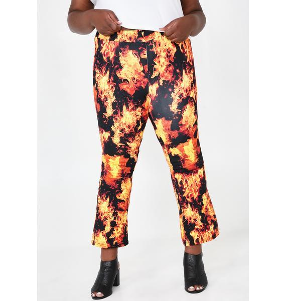 HOROSCOPEZ Gonna Feel The Burn Flared Pants