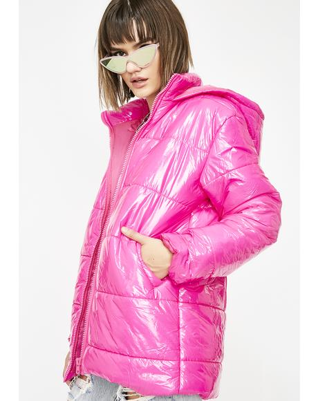 Kandi Coated Puffer Jacket