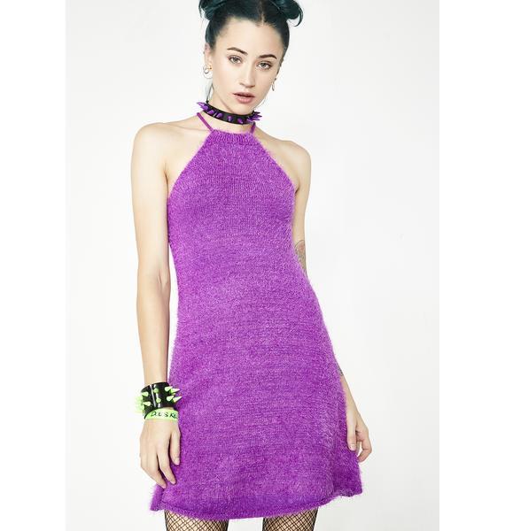 Current Mood Freeky Deeky Fuzzy Dress