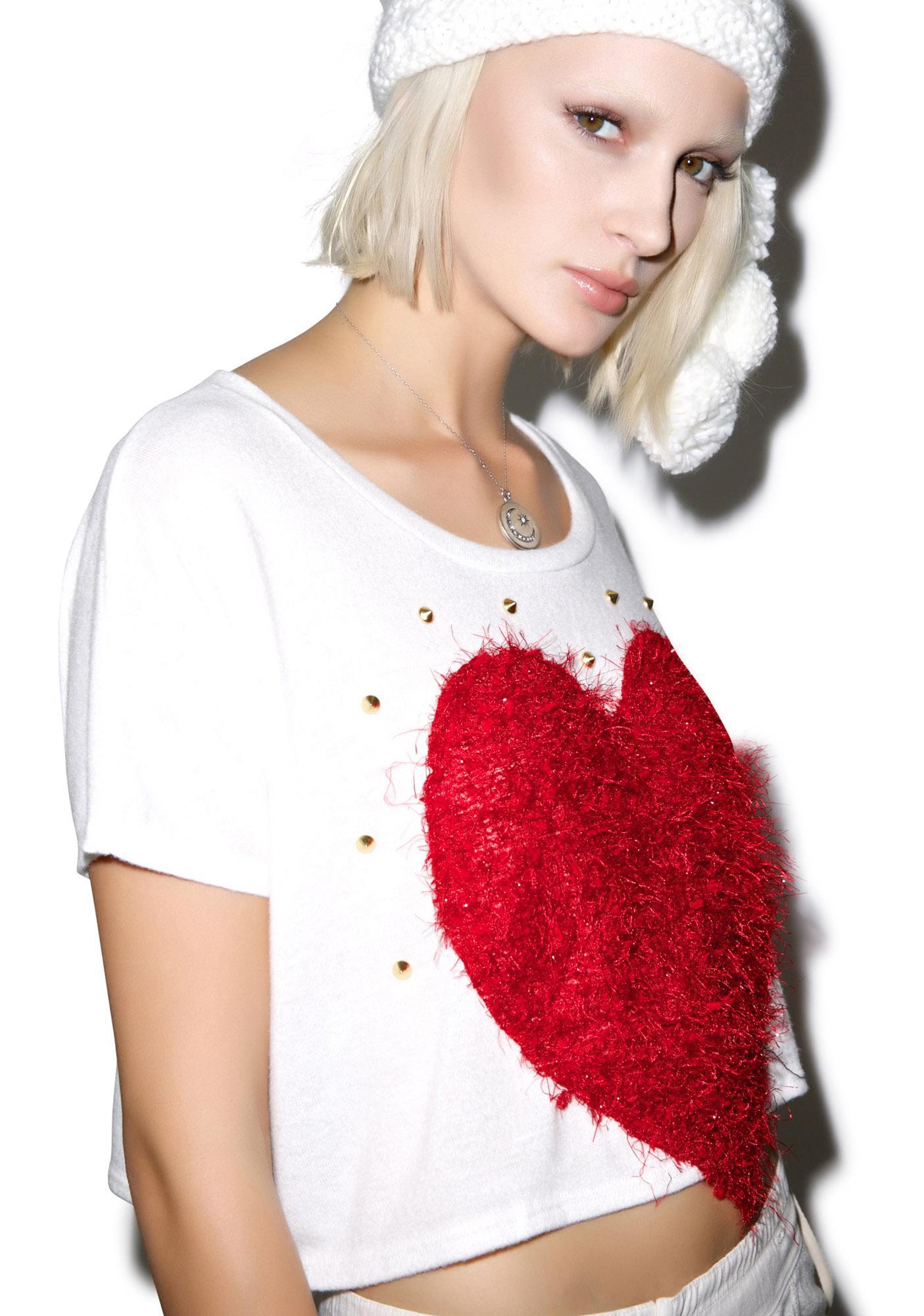 Queen of Heartz Patch Sweater