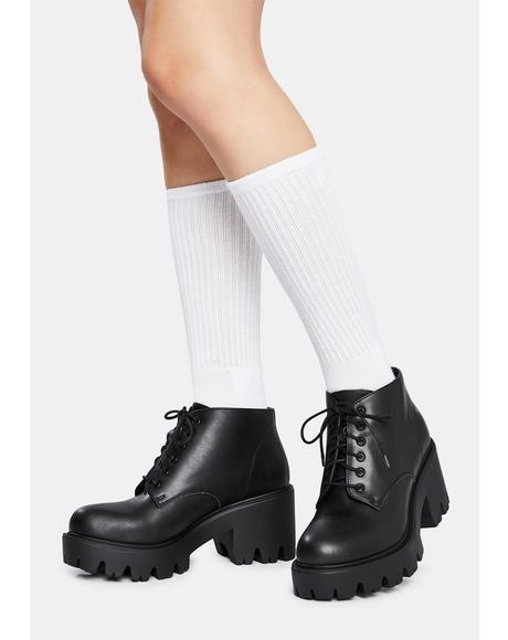 Nexi Vegan Leather Lace Up Boots