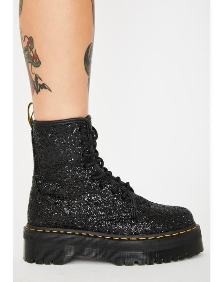 Jadon Glitter Platform Boots