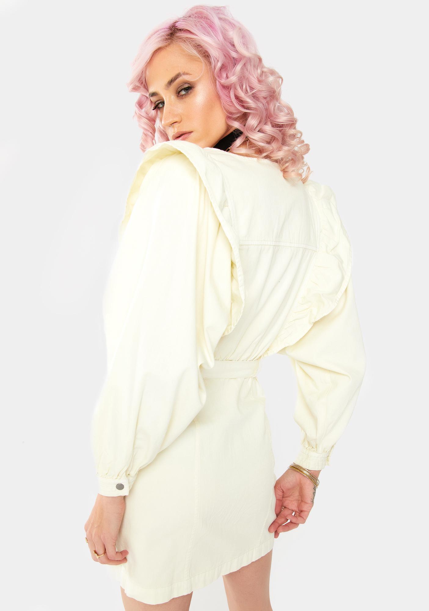 Free People Imogene Ruffle Mini Dress