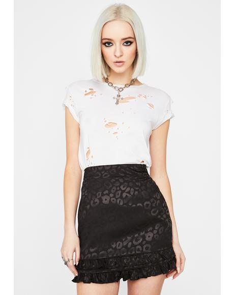Noir Fierce For U Leopard Mini Skirt