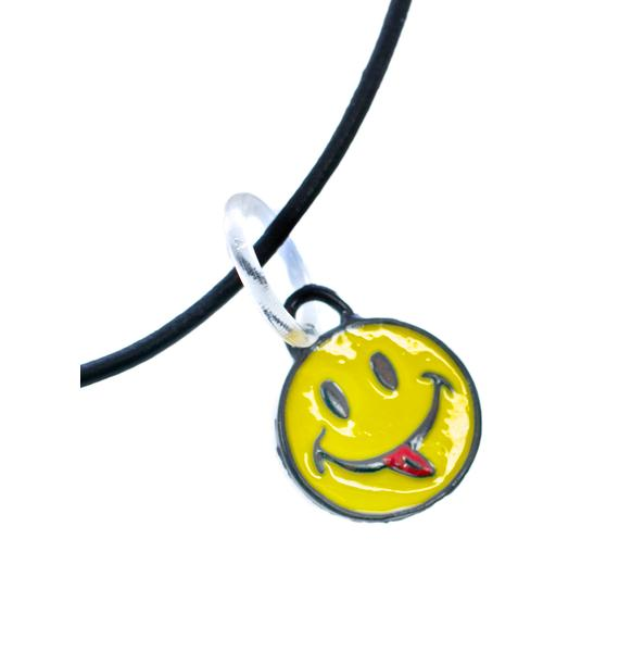 Rad and Refined Smiley Face Choker