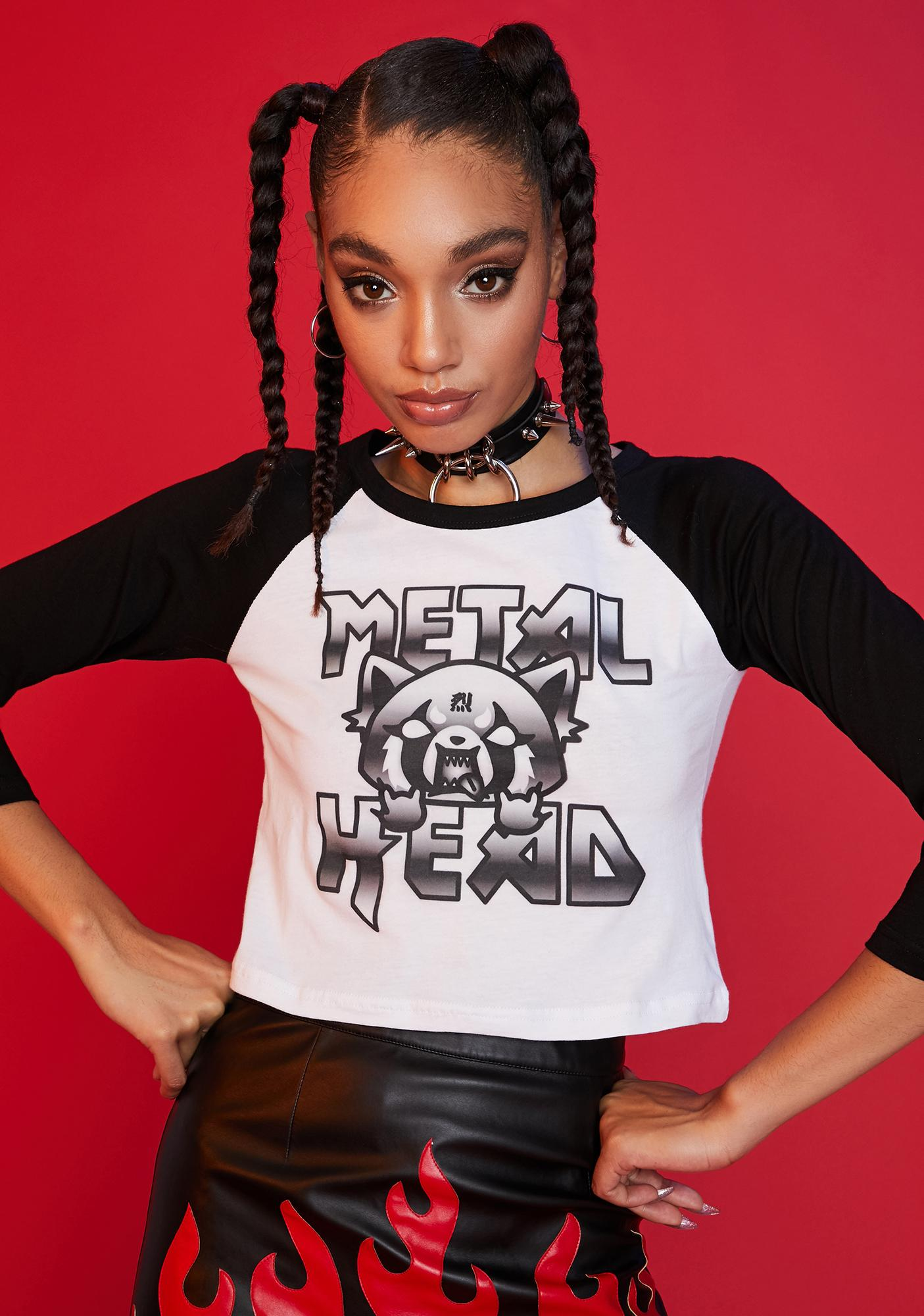 Dolls Kill x Hello Kitty Rock On Graphic Raglan Tee