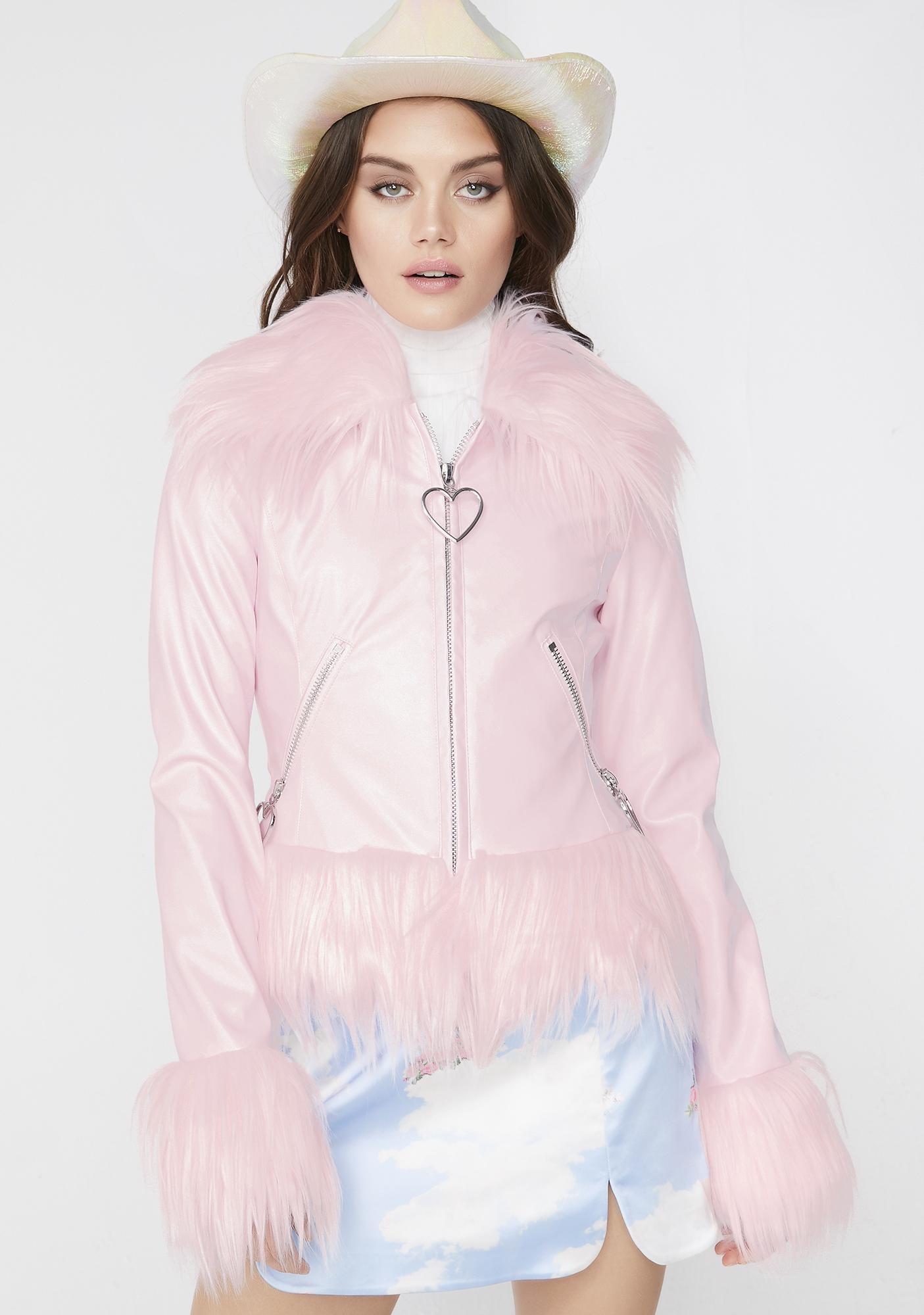Sugar Thrillz Princess Bubbleyum Vegan Leather Jacket