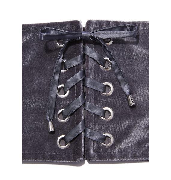 Hold On Tight Velvet Corset Belt