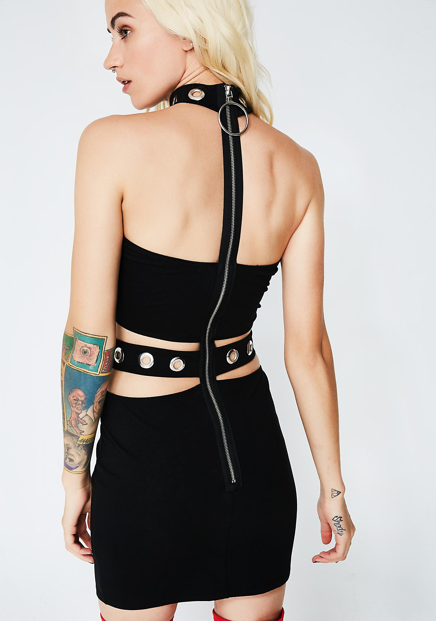 Jaded London Eyelet Cutout Mini Dress
