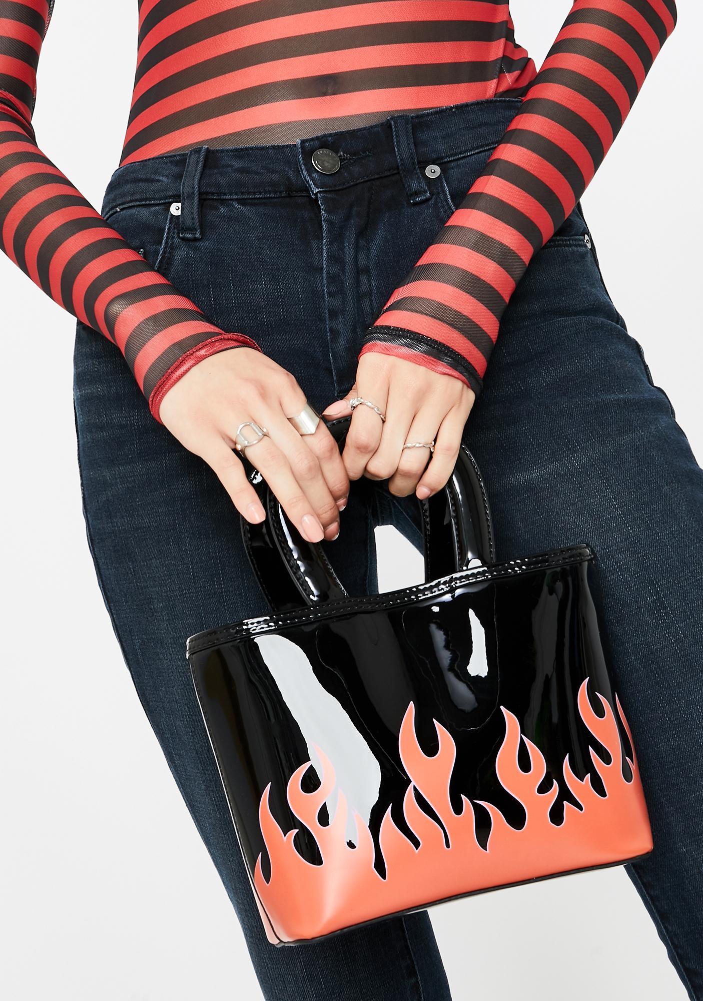 Skinnydip Leilani Flames Tote Bag
