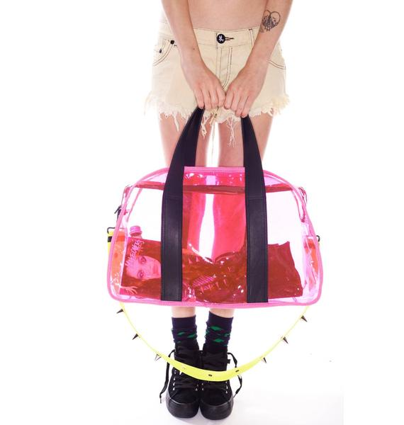 Plastic Gym Bag With Silver Studs