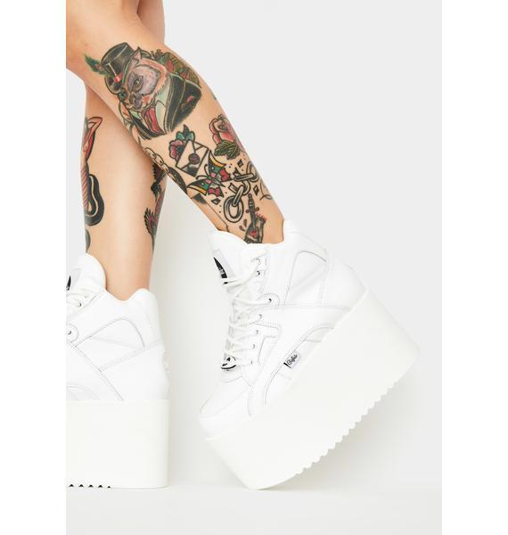 Buffalo London Rising Towers High Nappa Leather Sneakers