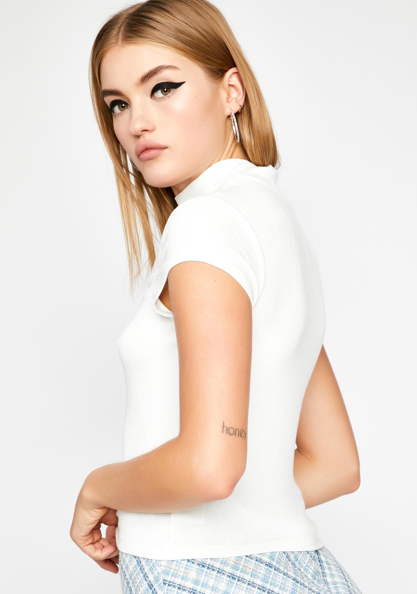 Icy Call Me Babe Cut Out Top