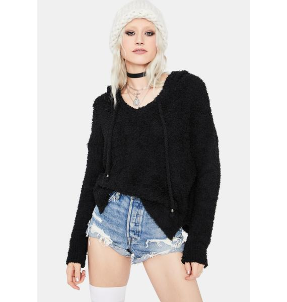 Make It Count Fuzzy Knit Hoodie