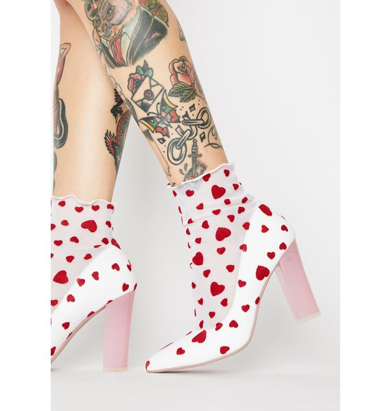 Sugar Thrillz Feelin' Lovesick Sock Booties