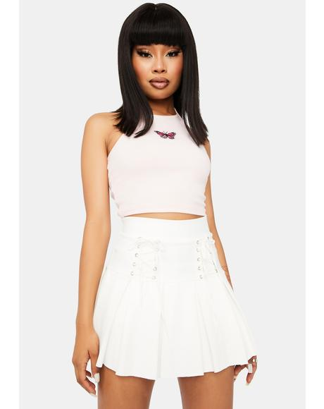 Pure Modern School Girl Pleated Skirt