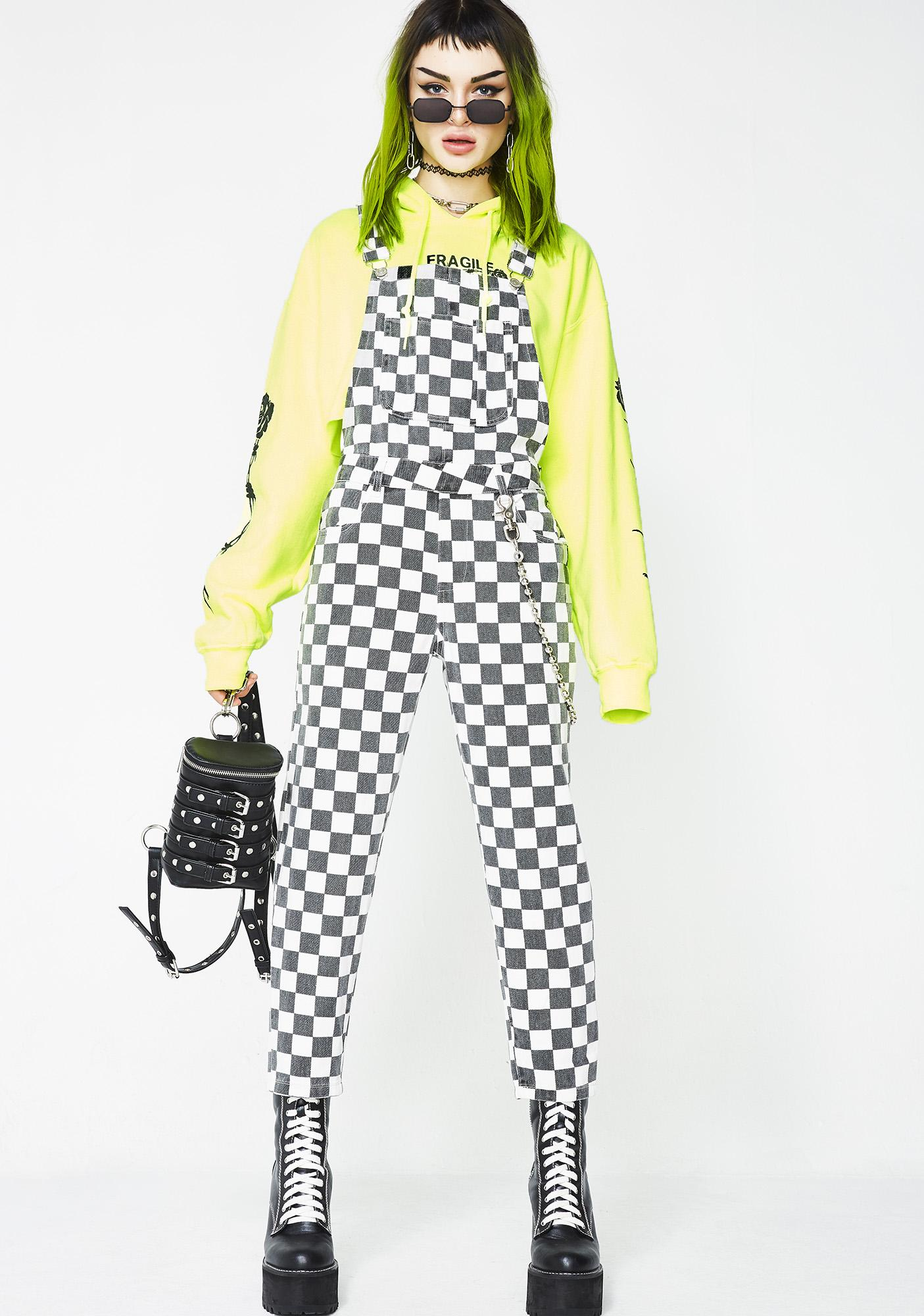 Like A Racecar Checkered Overalls