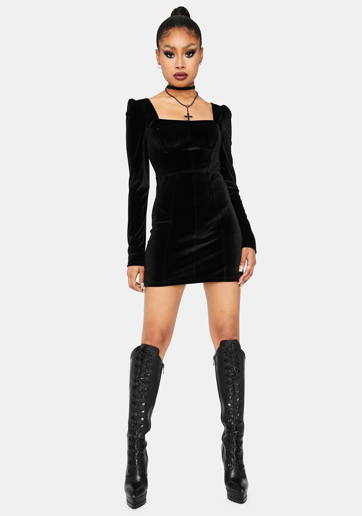 Kiki Riki Hot Girl Haunting Velvet Mini Dress